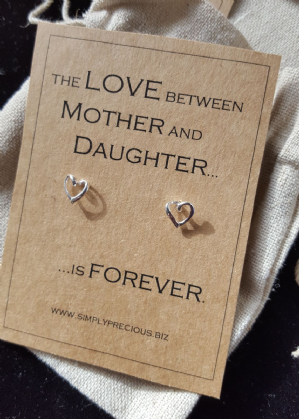 Mother Daughter Love Forever Open Heart Earrings
